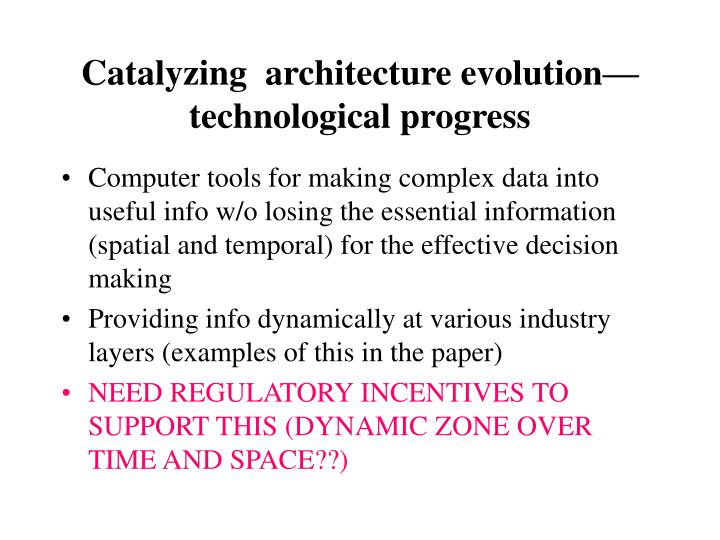 Catalyzing  architecture evolution—technological progress
