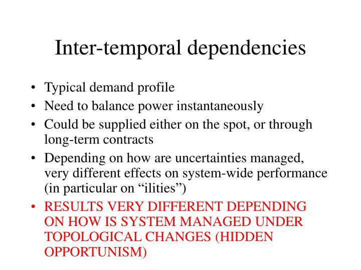 Inter-temporal dependencies