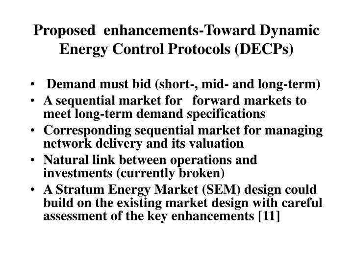 Proposed  enhancements-Toward Dynamic Energy Control Protocols (DECPs)
