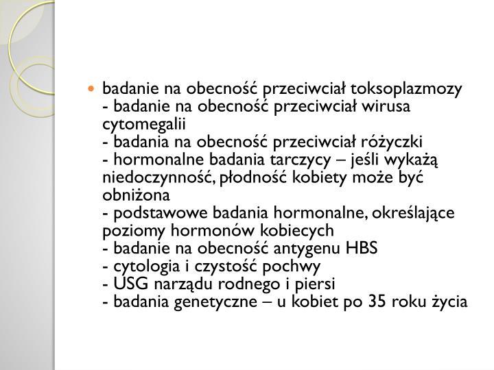 badanie na obecność przeciwciał toksoplazmozy
