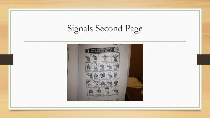 Signals Second Page