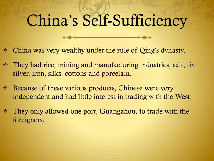 China's Self-Sufficiency