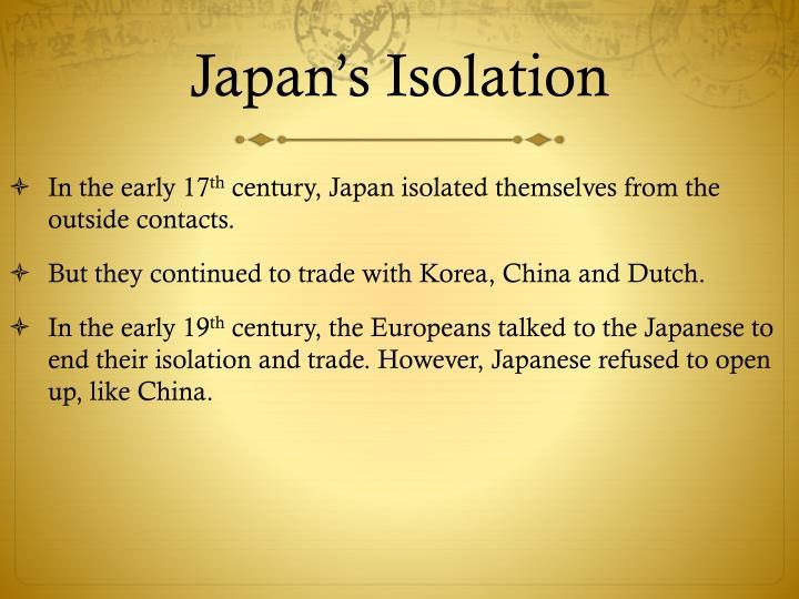 Japan's Isolation