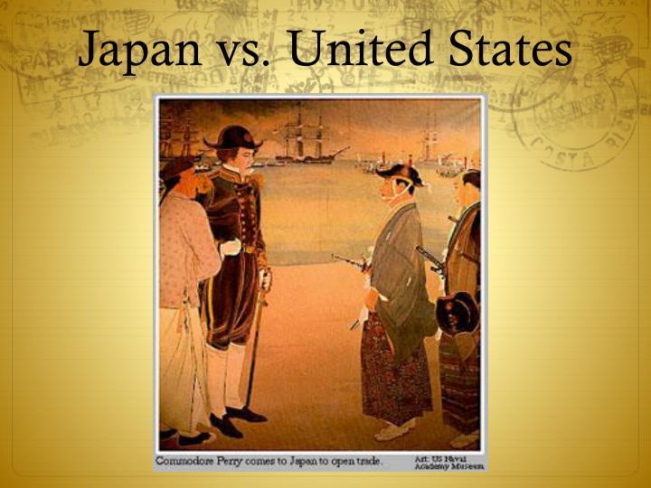 Japan vs. United States