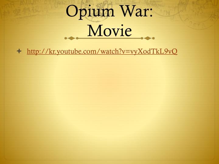 Opium War: