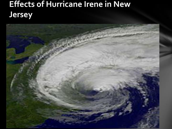 Effects of Hurricane Irene in New