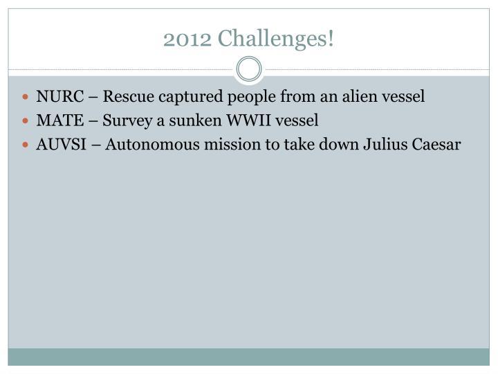 2012 Challenges!