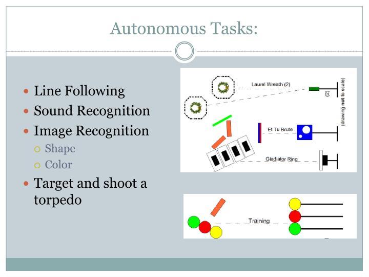 Autonomous Tasks: