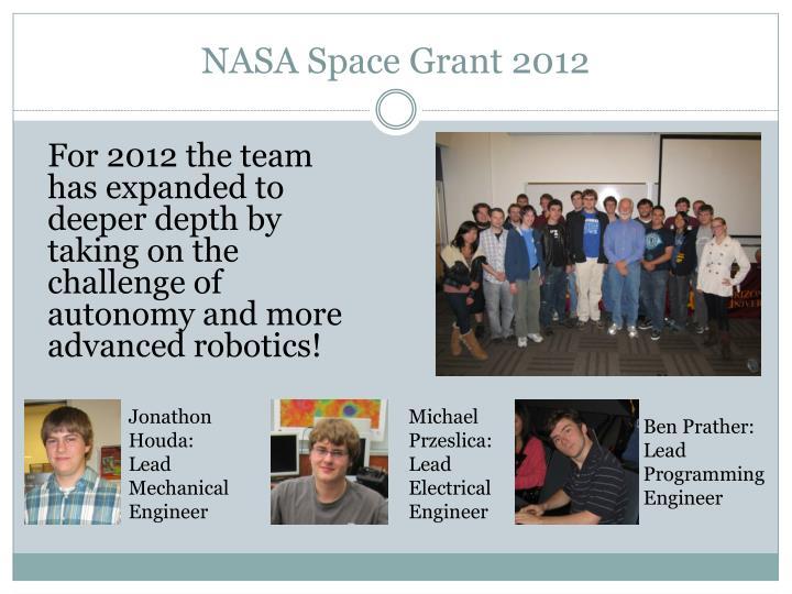 NASA Space Grant 2012