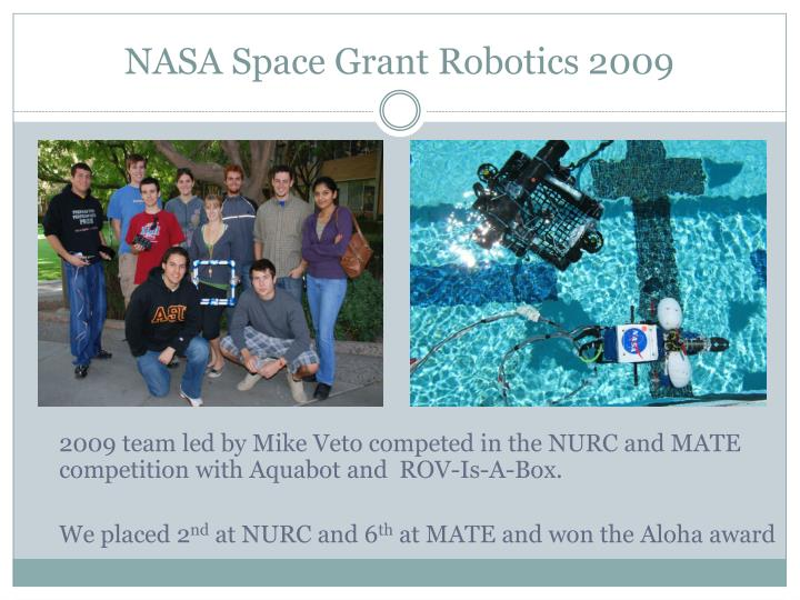 NASA Space Grant Robotics 2009
