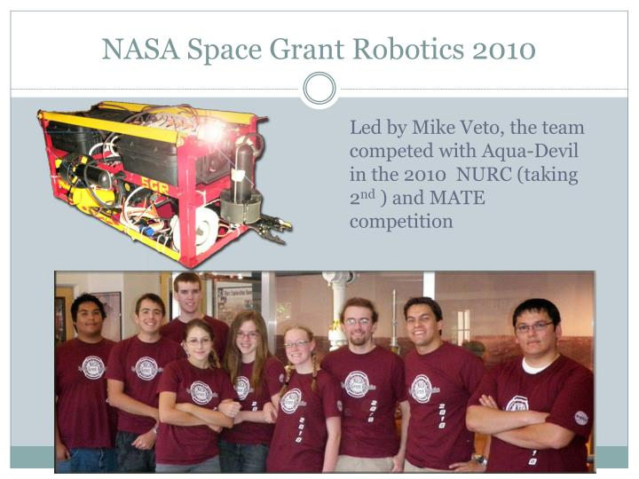 NASA Space Grant Robotics 2010