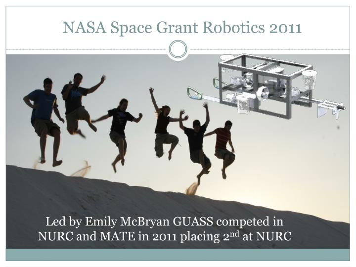 NASA Space Grant Robotics 2011