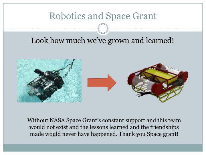 Robotics and Space Grant