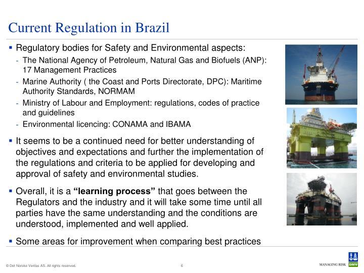 Current Regulation in Brazil