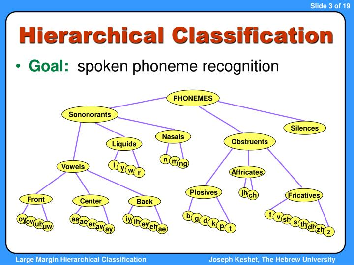 Hierarchical Classification