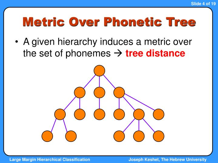 Metric Over Phonetic Tree