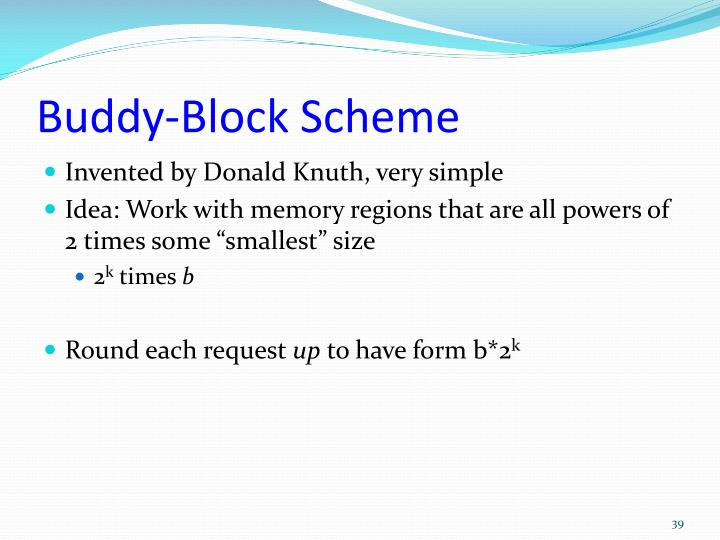 Buddy-Block Scheme