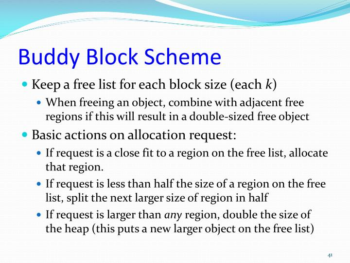 Buddy Block Scheme
