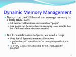 dynamic memory management