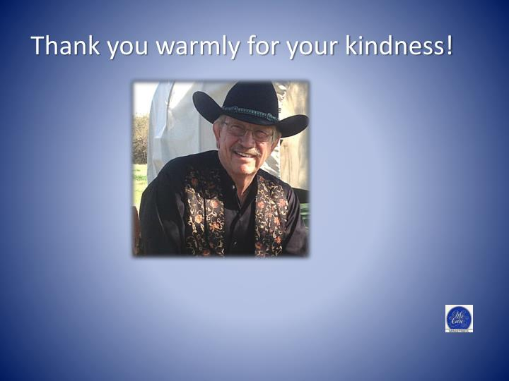 Thank you warmly for your kindness!