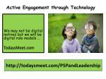 active engagement through technology