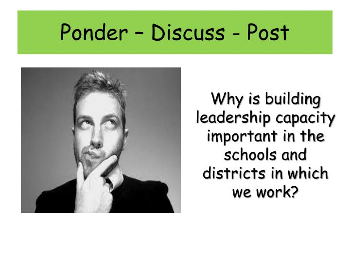 Ponder – Discuss - Post