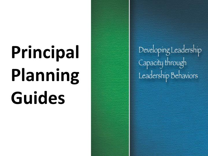 Principal Planning Guides