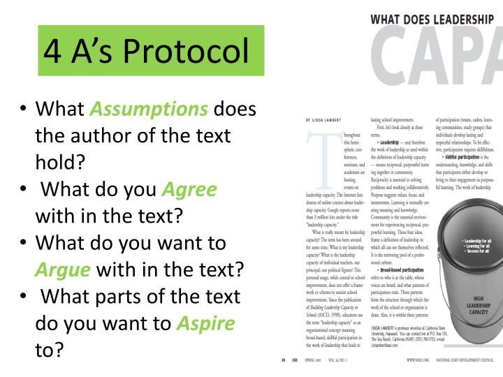 4 A's Protocol