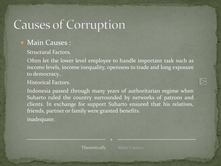 Causes of Corruption