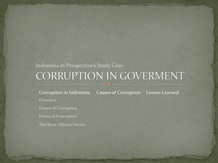 Corruption in goverment1