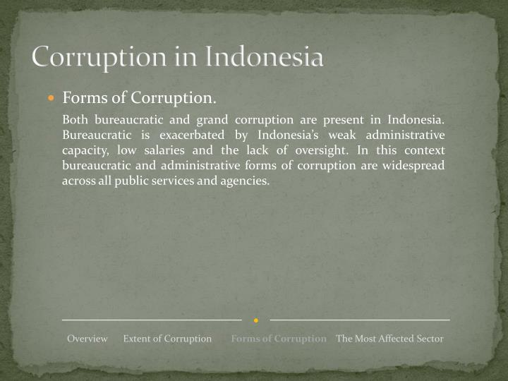 Corruption in Indonesia
