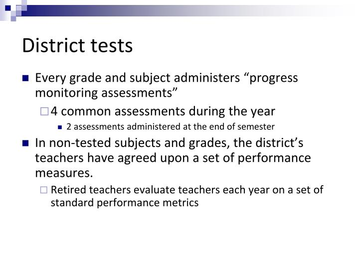 District tests