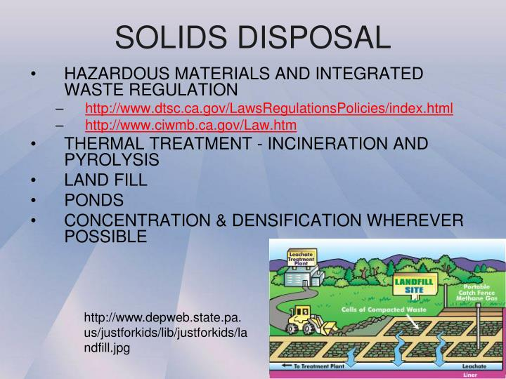 SOLIDS DISPOSAL