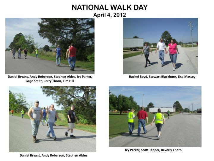 NATIONAL WALK DAY