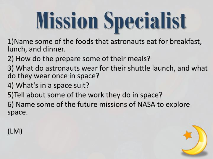 Mission Specialist