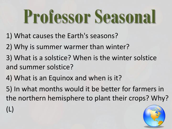 Professor Seasonal