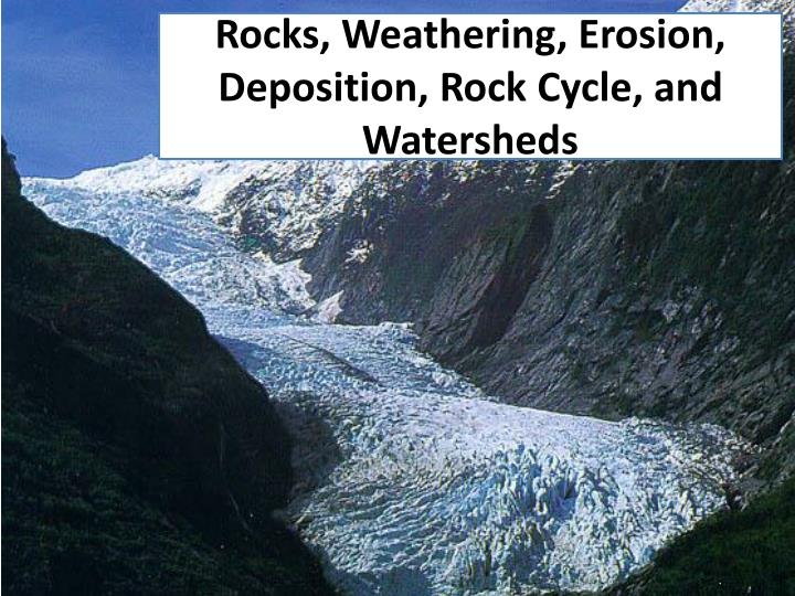 Rocks weathering erosion deposition rock cycle and watersheds