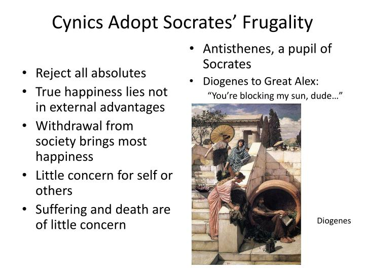 Cynics Adopt Socrates' Frugality