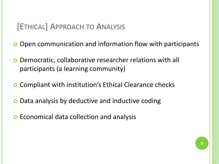 [Ethical] Approach to Analysis