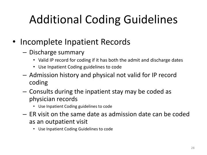 Additional Coding Guidelines