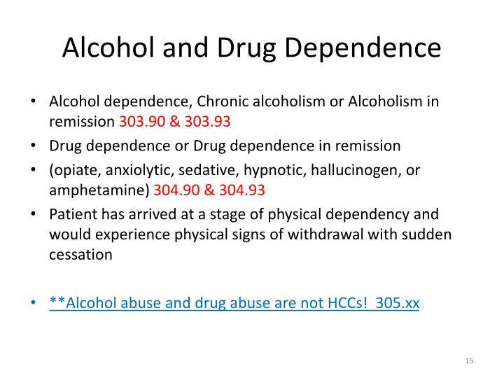 Alcohol and Drug Dependence