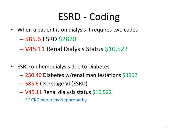 ESRD - Coding