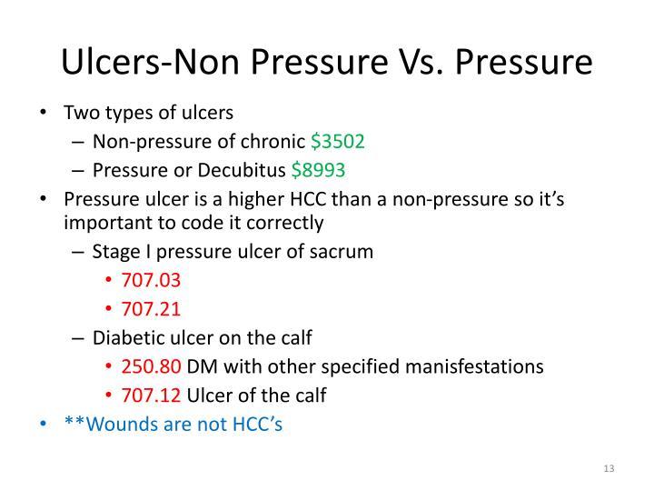 Ulcers-Non Pressure Vs. Pressure