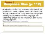 response bias p 112