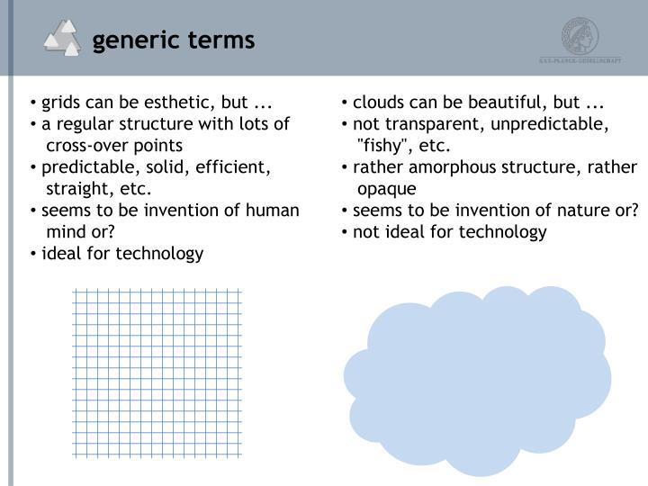 generic terms