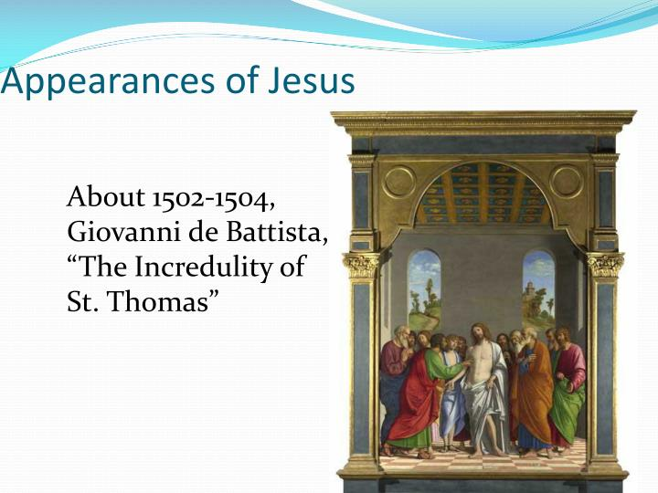 Appearances of Jesus