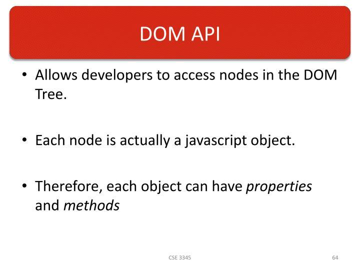 DOM API