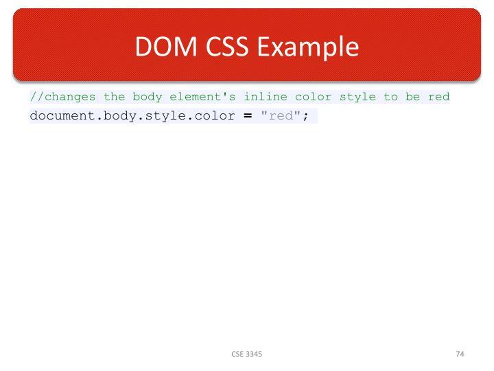 DOM CSS Example