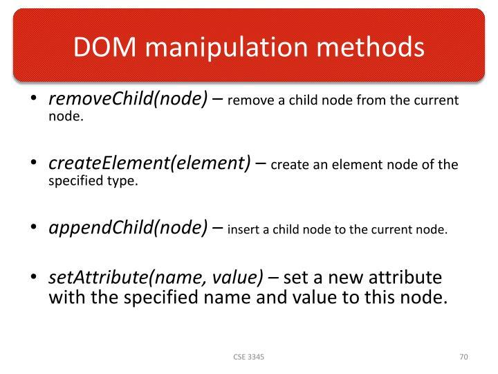 DOM manipulation methods