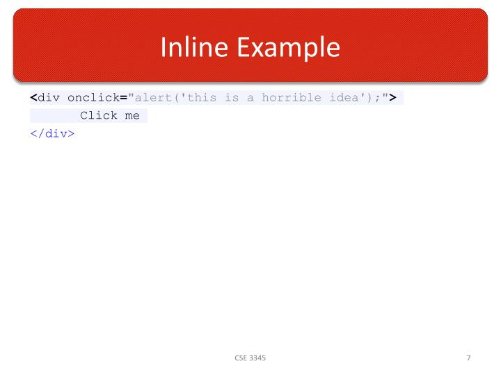 Inline Example